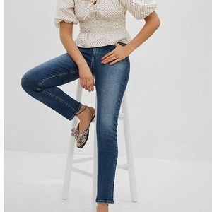 AG The Stevie Ankle distressed jeans